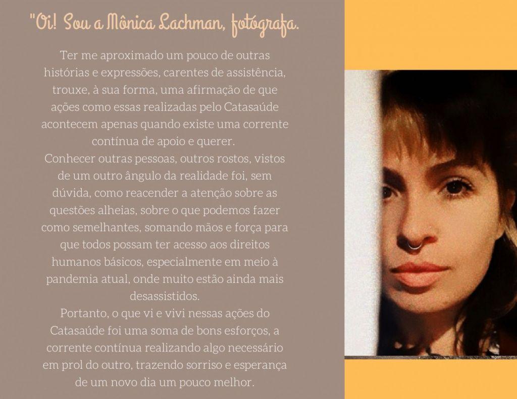 Brochura a Roxo e Pessego com Fotografia 4